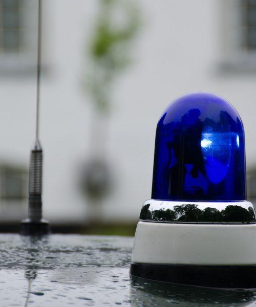 Blue emergency vehicle lighting